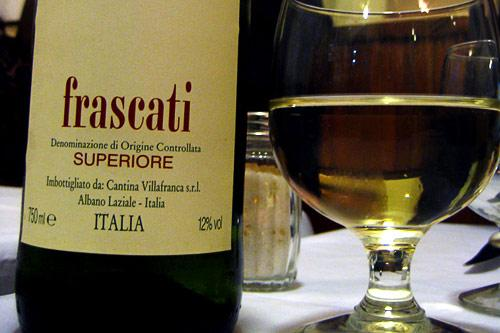 Frascati wines are produced in the countryside outside of Rome.