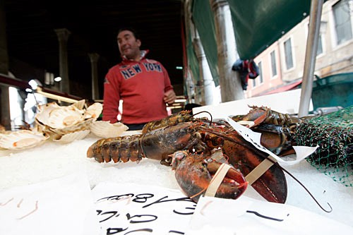 Venice's best seafood eateries buy their catch daily at the renowned Rialto markets.