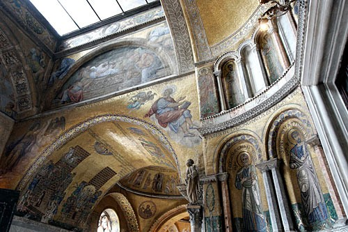 Mosaics like those decorating the interior of San Marco helped the illiterate masses to understand biblical teachings.