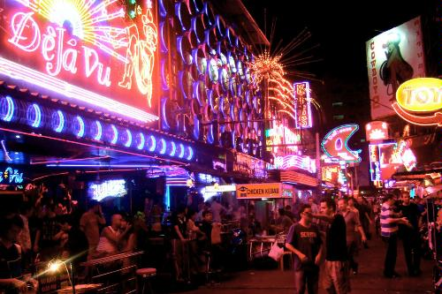 Soi Cowboy, in the Red Light District of Bangkok.