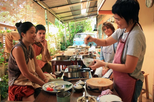 Cooking class in session at A Lot of Thai in Chiang Mai, Thailand. Photo: Courtesy A Lot of Thai