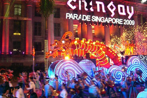 chingay parade, chinese new year, singapore