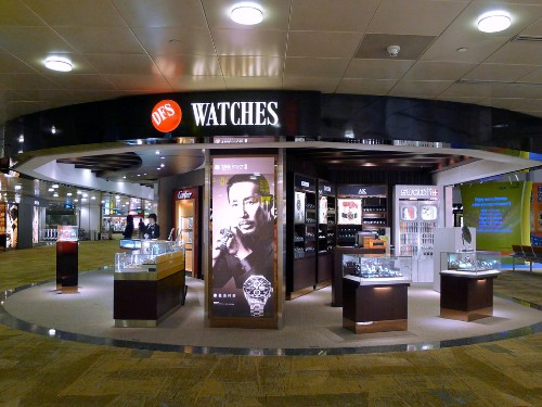 DFS Watch shop at Changi Airport.