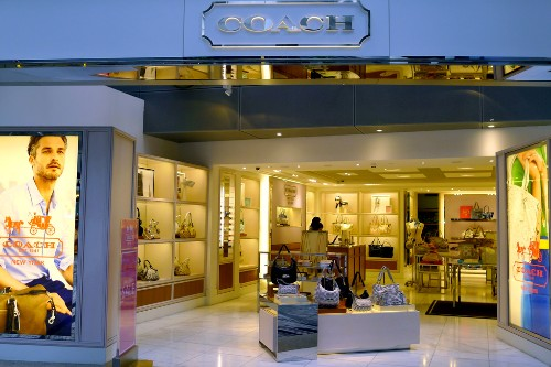 Coach designer goods at Changi Airport, Singapore.