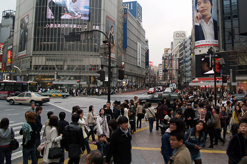 Shibuya (central business district) crossing, Tokyo