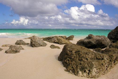 Coral rocks at Crane Beach , Barbados