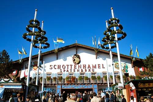 Schottenhamel is the oldest beer tent at Oktoberfest.