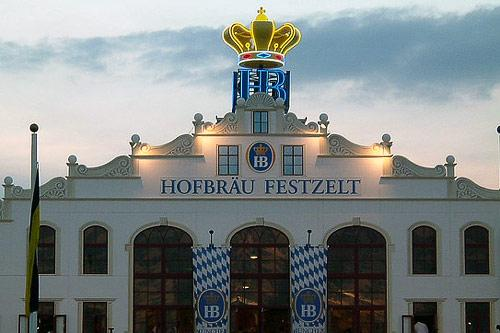Hofbräu Festzelt is another popular Oktoberfest beer tent.