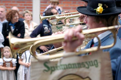 Brass bands are another Oktoberfest highlight.
