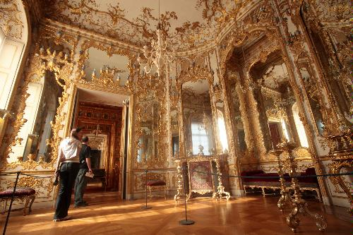 Interior of the royal apartments, Munich Residenz, Germany.