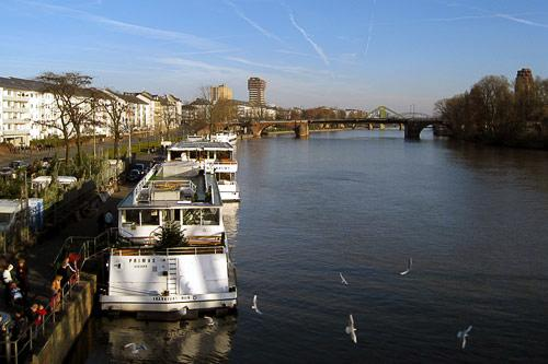 The Main River in Frankfurt, Germany.