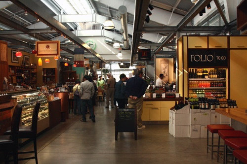 Inside the Oxbow Public Market, Napa.