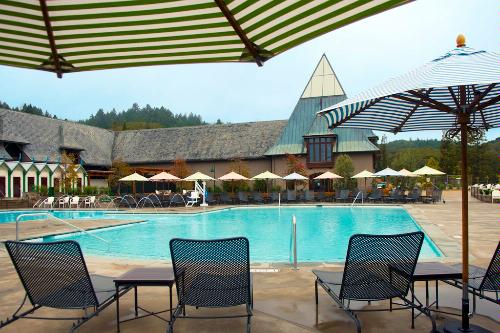 The resort pool at the Francis Ford Coppola Winery in Napa, California.