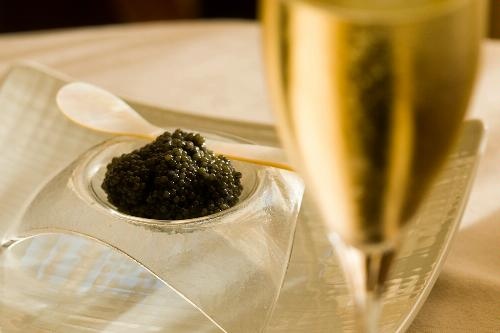 Caviar at Cyrus restaurant in Healdsburg, California.