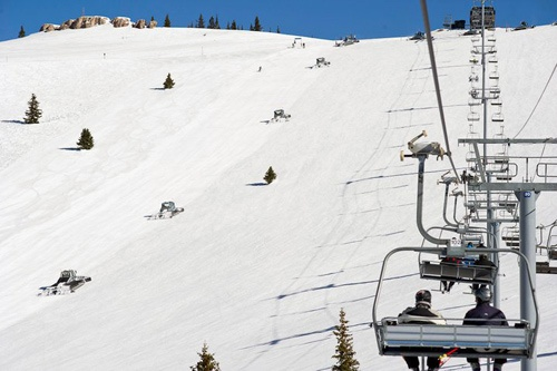 Chairlifts on the Golden Peak, Vail, Colorado.