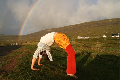 Outdoor yoga at Burren Yoga and Meditation Centre in Kinvara, County Galway. Courtesy Burren Yoga Centre