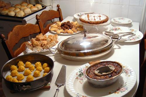 A home cooked feast arranged by Home Food in Bologna, Italy.