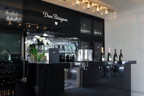Dom Perignon champagne bar at Hotel Sezz Saint-Tropez. Photo Image courtesy of Design Hotels