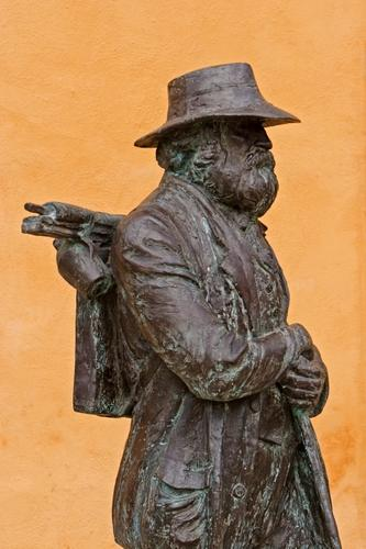 A sculpture of Paul Cézanne, native son of Aix-en-Provence.
