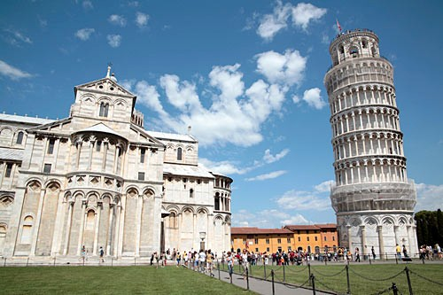 Though its prominent lean looks disconcerting to prospective climbers, the Leaning Tower of Pisa is now stable.