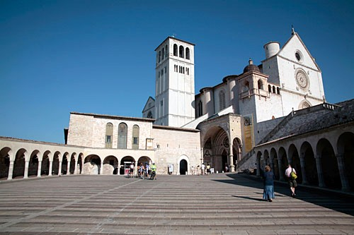 The paved approach to Assisi's basilica is named after the church's probable architect, Brother Elias.
