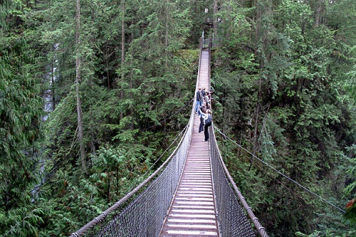 The Lynn Canyon Suspension Bridge in North Vancouver.