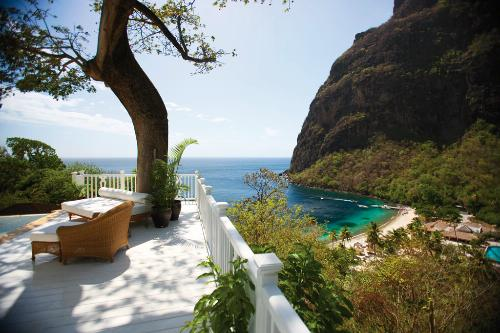 Terrace at Sugar Beach, St. Lucia.