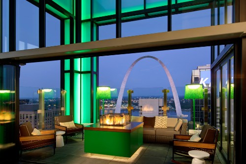 Three Sixty Rooftop Bar at Hilton St. Louis at the Ballpark.