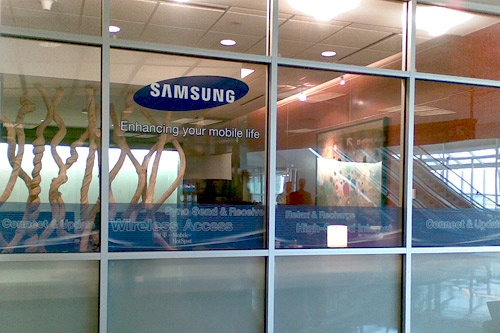 Stations sponsored by Samsung at Dallas DFW Airport.
