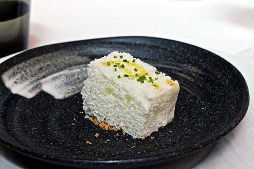 Ricard Camarena teases the palate with weirdly wonderful dishes, like an airy, cod brandade-inspired cube.