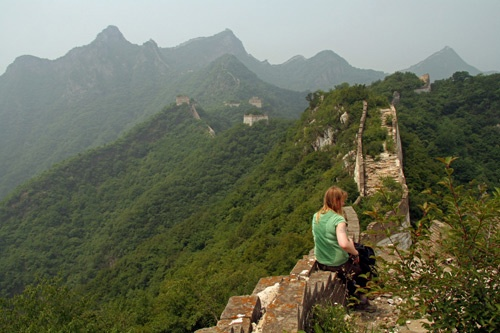 A stop along the Great Wall of China, in Jiankou.