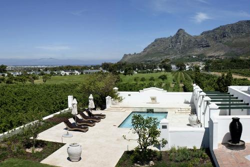 View of the vineyards from a room at the Steenberg Hotel & Vineyard.