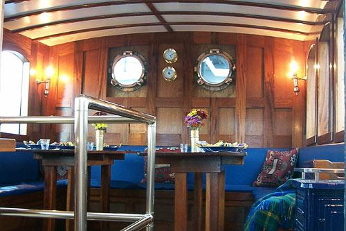 The coach house of Wanderbird. Courtesy Wanderbird Expedition Cruises