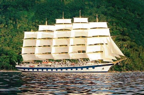 Royal Clipper in the Caribbean