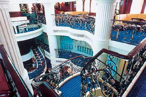 Royal Clipper's grand three-deck atrium.