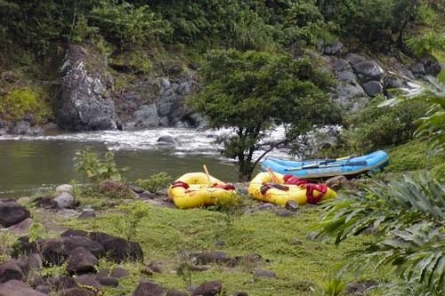 <br><br><em>Photo Caption: Rafting the Pacuare River in the rain forest of Costa Rica.