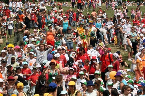 Dance, sing, clap and soak up the sunshine. It's not often that your children will get the chance to have a sing-along in the open air with 10,000 little friends.