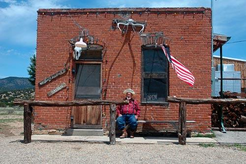 The historic No Scum Allowed Saloon in White Oaks, NM. Courtesy ruidosoattractions.com