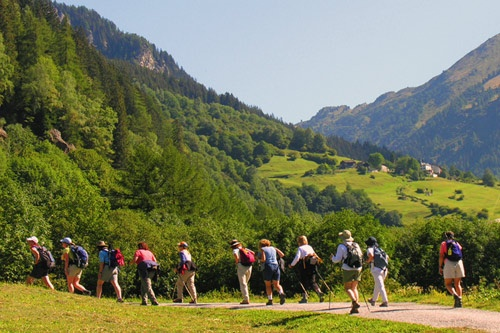 Hiking the Swiss Alps with Adventure Women. Photo: Susan L Eckert/AdventureWomen Inc.
