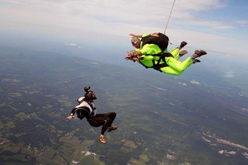 Skydiving in Gardiner, New York.