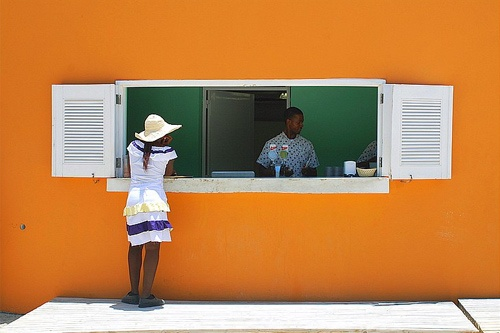 Waiting for a drink in Montego Bay, Jamaica.