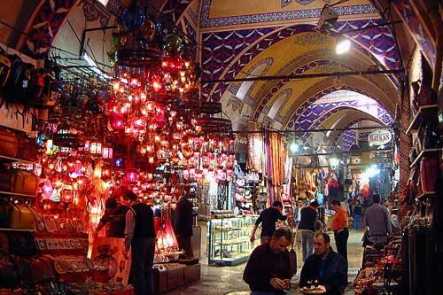 Early morning at the Grand Bazaar in Istanbul.