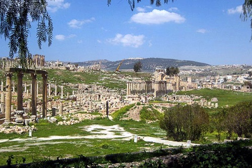 The ancient city of Jerash, north of Amman, has continuously been the stomping ground of different civilizations.