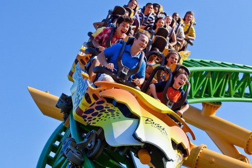 Cheetah Hunt, Busch Gardens, Tampa Bay Florida.