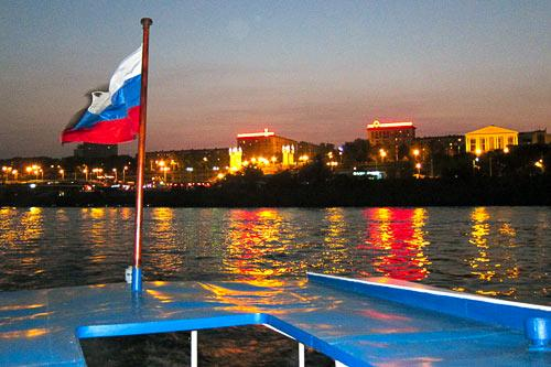 Leaving Volgograd on a Volga River cruise.