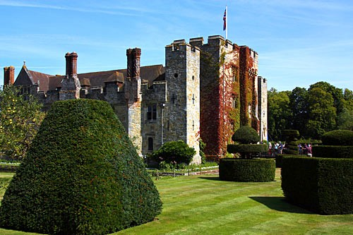 Hever Castle was the childhood home of Anne Boleyn.