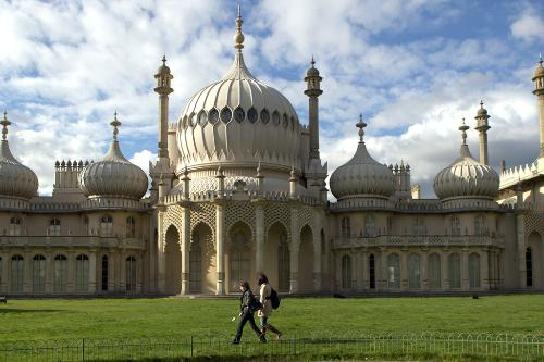 Brighton Palace and the Royal Pavilion in Brighton, England.