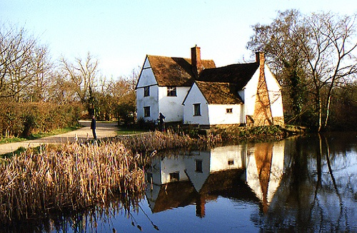 Willy Lott's cottage -- subject of works by painter John Constable -- in Dedham, England.