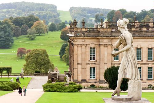 Chatsworth House in North Derbyshire, England.
