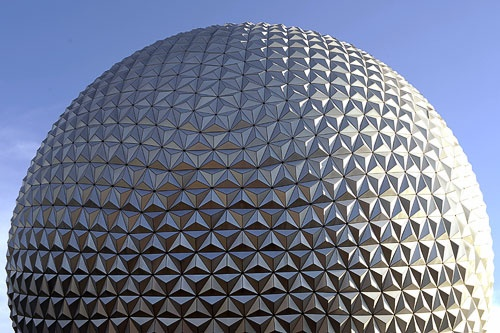 "Epcot's iconic ""ball"" serves as the exterior to Spaceship Earth."